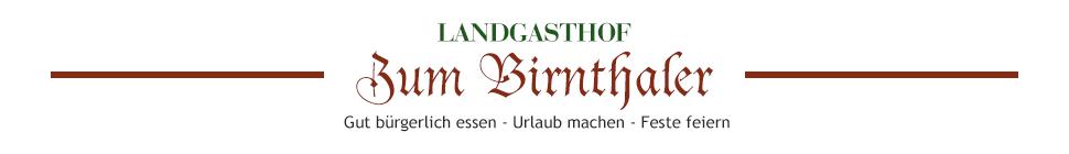 Landgasthof Birnthaler Gasthaus Gasthof Kallmünz